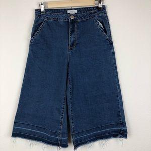 Blue Asphalt Wide Cropped Jeans Size 9